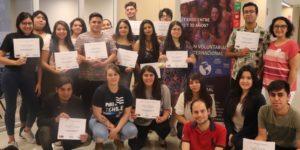 Estudiantes finalizaron con éxito la Escuela de Formación de Voluntarios de la U. Autónoma de Chile
