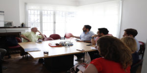 Destacado neurocientífico español se  reunió con investigadores del proyecto IA + D