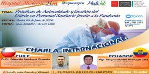 Investigador de la UA dicta capacitación sobre prácticas de autocuidado a personal sanitaria de Ecuador