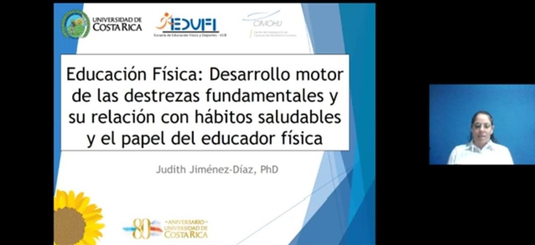 Académica de Costa Rica dictó conferencia sobre educación física infantil