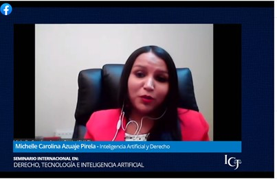 Profesora Azuaje participó en Seminario Internacional en Derecho, Tecnología e Inteligencia Artificial